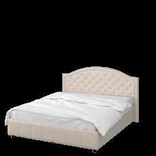 Кровать 1600 с под. механизмом (кожзам Жемчуг)