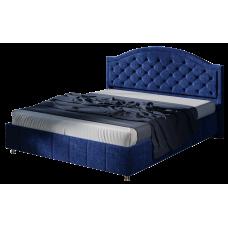Кровать 1600 с под. механизмом (ткань Велюр Синий)