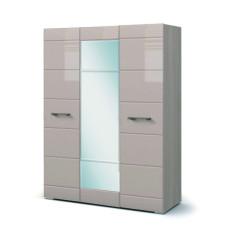Вегас Спальня Шкаф 3х дверный (Ясень шимо темны/Кофе с молоком глянец)
