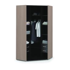 Вегас Спальня Шкаф угловой 2х дверный (Ясень шимо темный/Кофе с молоком глянец)