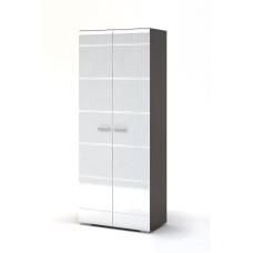 Вегас Спальня Шкаф 2х дверный (Венге/Белый глянец)