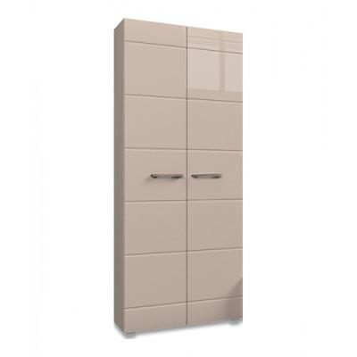 Вегас Спальня Шкаф 2х дверный (Ясень шимо темный/Кофе с молоком глянец)