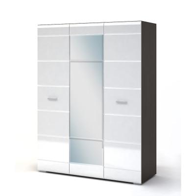 Вегас Спальня Шкаф 3х дверный (Венге/Белый глянец)