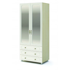 Виктория ШК 915 Шкаф 2х створчатый с ящиками (Дуб белфорт/Жемчуг)