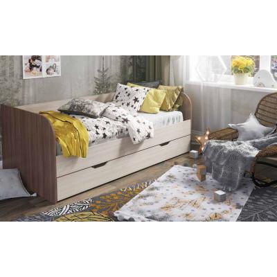 Балли кровать (Ясень шимо светлый/Ясень шимо темный)