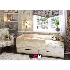 Алиса КР 811 Кровать 1400 МДФ (Дуб Белфорт/ Ваниль глянец)