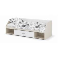 Симба Кровать одноярусная 800х1900 (Дуб белфорт/Белый глянец)