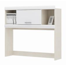 Симба Надстройка для стола (Дуб белфорт/Белый глянец)
