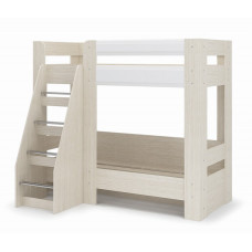 Симба Кровать двухъярусная 800х1900 (Дуб белфорт/Белый глянец)