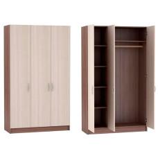 Бася ШК 557 Шкаф 3х дверный (Ясень шимо темный/ясень шимо светлый)