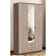 Трио Шкаф 3х дверный (Ясень шимо темный/Ясень шимо светлый)