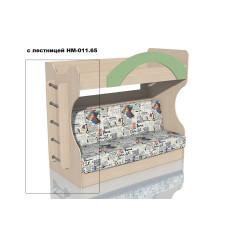 НМ 037.43 Кровать 2х ярусная с Диваном Дуб девонширский/Дуб девонширский, ткань РИМ Новинка