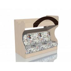 НМ 037.43 Кровать 2х ярусная с Диваном Дуб девонширский/Дуб Тортона, ткань РИМ Новинка