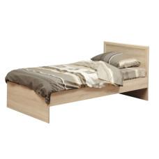 Кровать одинарная 21.55 (шир.900)с настилом (дуб сонома/профиль дуб сонома)