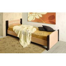 Кровать Олмеко 900 NEW (Дуб линдберг/Венге)