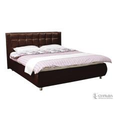 Кровать Ника 1600  (к/з Санни дарк браун) + Ящик к кровати 1600