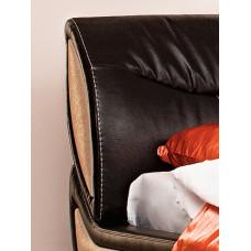 Кровать Камилла 1600 с подъемным механизмом (к/з Меркури дарк браун/Инфинити крем) + Ящик к кровати