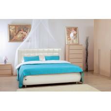 Кровать Ника 1600 с подъемным механизмом (к/з Меркури милк) + Ящик к кровати 1600